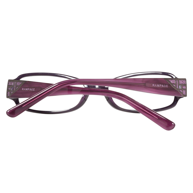 Rampage Damen Brille 168 PL Brillenfassung Lila Kunststoff Vollrand ...