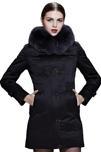 Amazon.com: Fast Sister Women's Stylish Goose Down Jacket ...