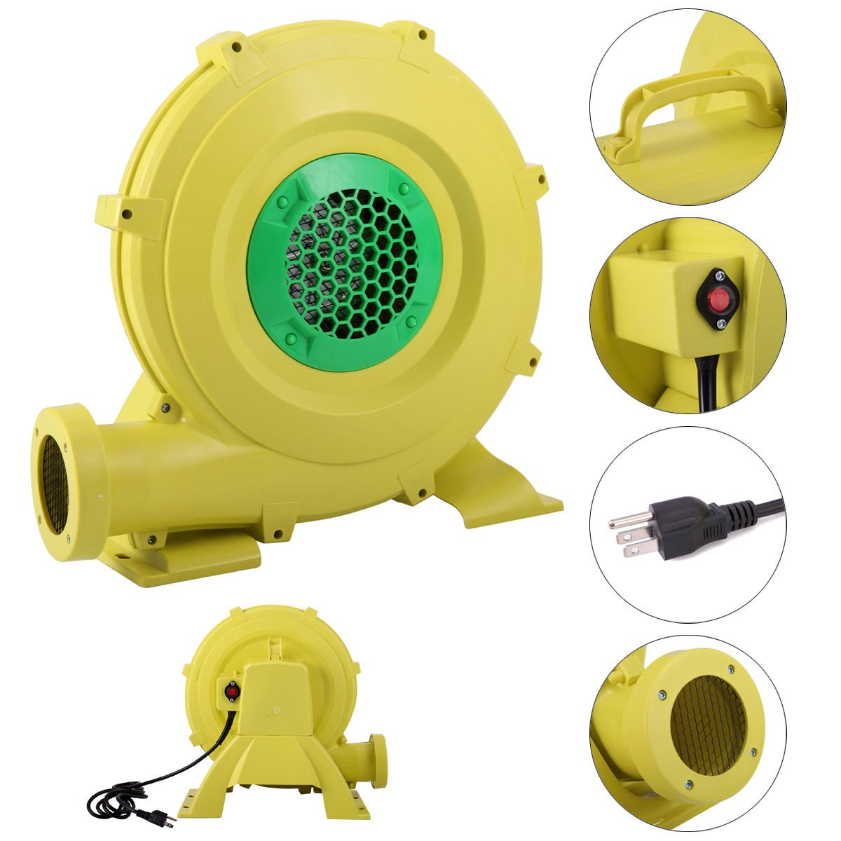 450 Watt Air Blower Pump Fan 0.6HP for Inflatable Bounce House Bouncy Castle
