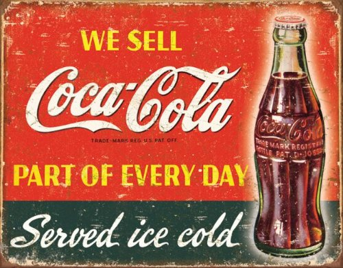 Coca-Cola Part of Every Day Tin Sign 13 x 16in