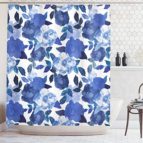 Ambesonne Flower House Decor Collection, Lively Watercolor Painted
