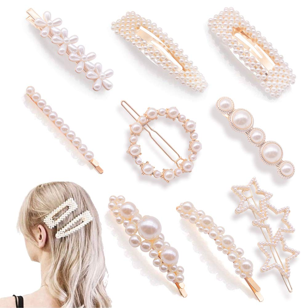 Cute, large barretes and hair clips