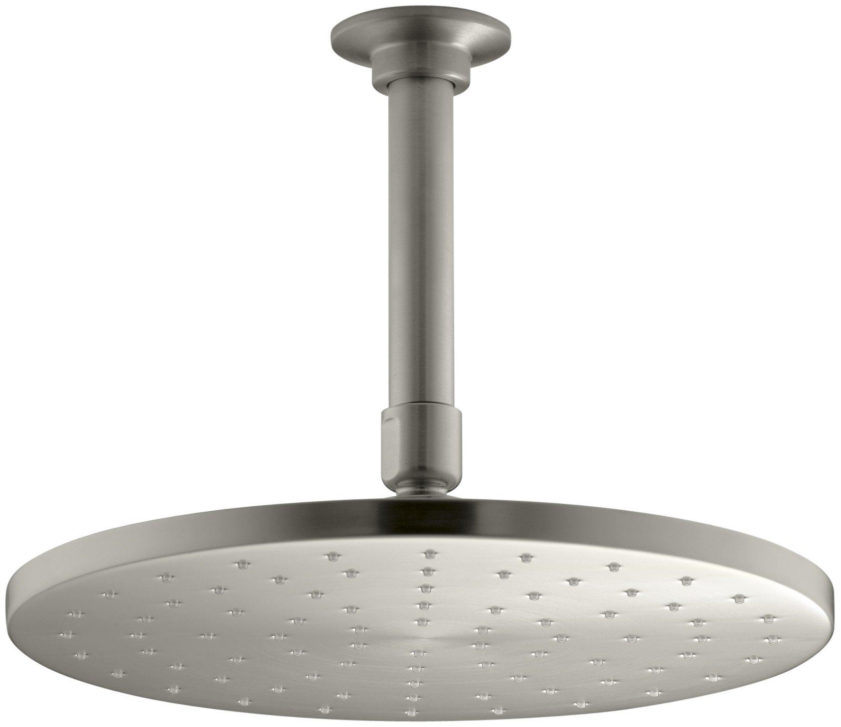 KOHLER K-13689-BN 10-Inch Contemporary Round Rain Showerhead, Vibrant Brushed Nickel by Kohler (Image #1)