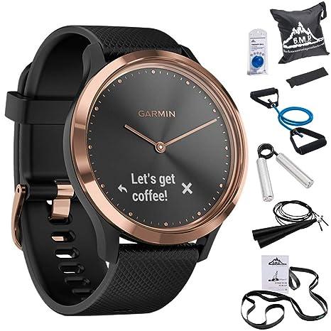 Garmin 010-01850-16 Vivomove HR,Sport Smartwatch Rose Gold w/Black ...