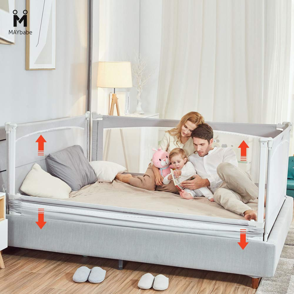 MAYbabe Bed Rails for Toddlers-Extra Long and Tall Infants Guardrail(Guard for Kids Twin,Double,Full Size Queen&King). (59in) by MAYbabe (Image #6)