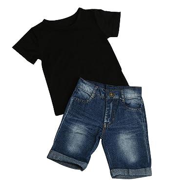 look for promo codes various colors Oyedens Bébé Ensembles Pantalons et Haut, Ensemble Bebe Garcon Naissance  Mode Vetement Bébé Garçon Ete Pas Cher Sport Chemise T-Shirts Tops+Shorts  en ...