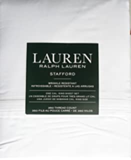 3666873254 Amazon.com: RALPH LAUREN Spencer Basketweave Sateen Cotton Tan Wheat ...