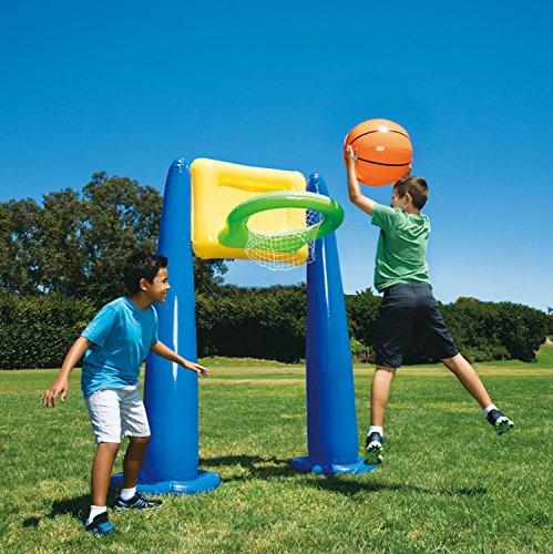 Big Play Sports Jumbo Inflatable Pool Basketball Hoop Set w/ Ball | KF0062000167