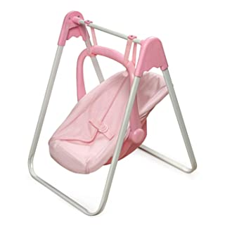 Badger Basket Doll Swing and Carrier - Pink Gingham (fits American Girl Dolls)