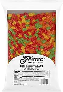 Ferrara Candy Company Mini Gummy Bears Candy, 80 Ounce