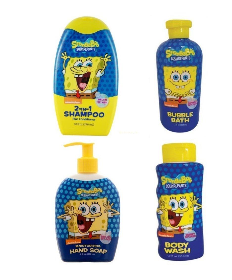 Amazon.com: Spongebob Squarepants Complete Bath & Body Set: Home ...