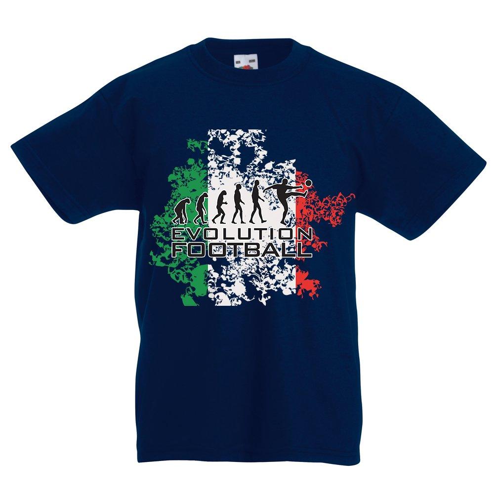 lepni.me Camiseta Niños/Niñas Evolución del Fútbol - Italia ...