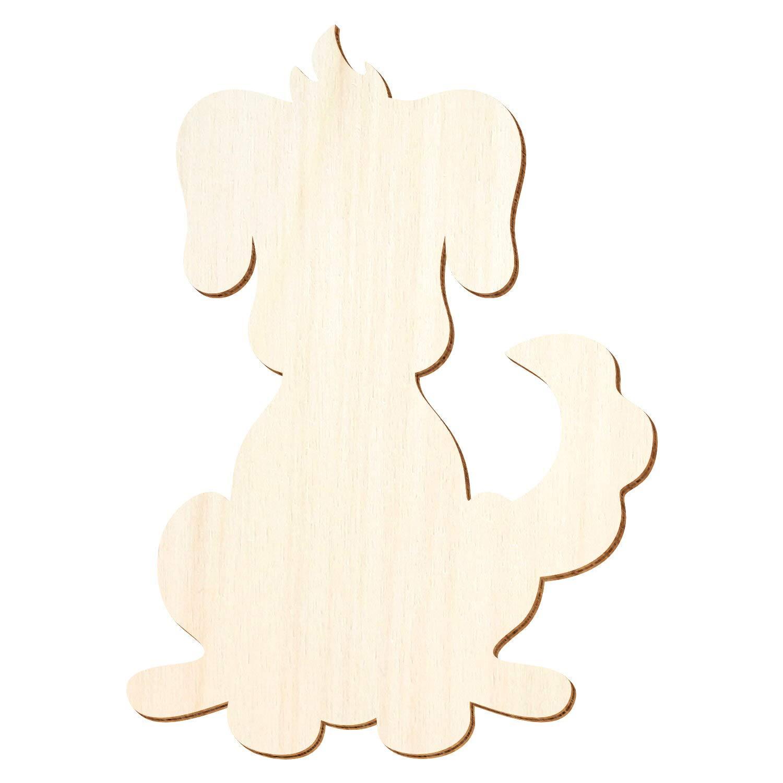 Holz Hund 'Wauzi' - 3-50cm Höhe - Basteln Basteln Basteln Deko, Pack mit 25 Stück, Größe 13cm B07PVKJ75L | Trendy  6c4d09