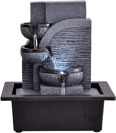 Fuentes Decorativas Fuente Decorativa de Resina Fuente de Interior Decoración de Escritorio Creativa Estatua Montaña Piedra Feng Shui Fuente Estanques y Jardines de Agua (Color : B): Amazon.es: Hogar