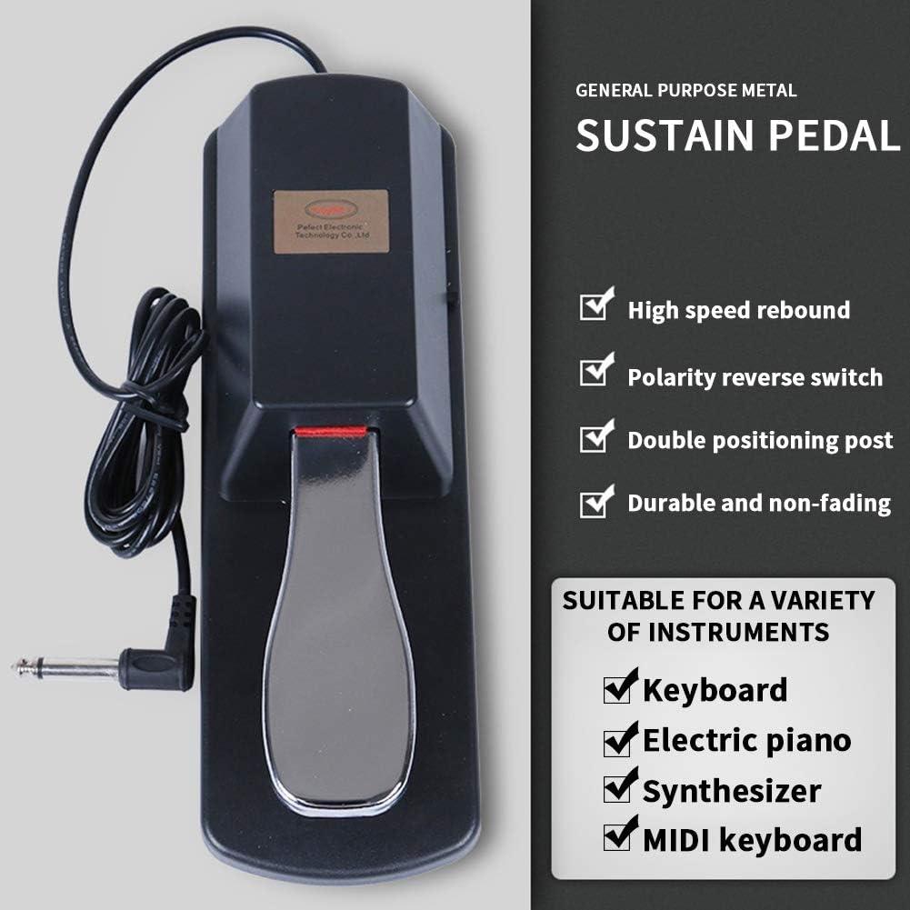Hinmay Tastiera Sonora Piano Pedale Digitale per Pianoforte e Tastiera Sustain Pedale Sustain per Molti Strumenti elettronici