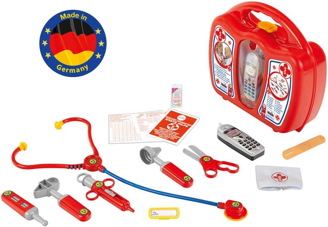 Theo Klein-4350 Maletin Médico Con Teléfono Móvil Y Con Numerosos Accesorios, Juguete, Multicolor (4350)