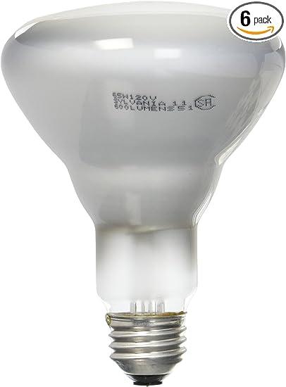 Sylvania 15165 65 Watt Br30 Reflector Flood 120 Volt Medium Base Incandescent Light Bulb 6 Pack Amazon Com