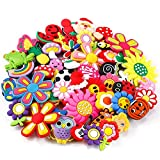 PP OPOUNT 50 Pieces PVC Different Shoe Charms for Bands Bracelet Wristband Kids Party Birthday Gifts