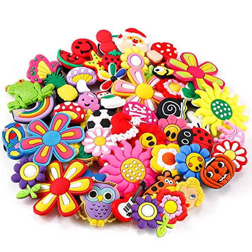 PP OPOUNT50 Pieces PVC Different Shoe Charmsfor Bands Bracelet WristbandKids Party Birthday Gifts