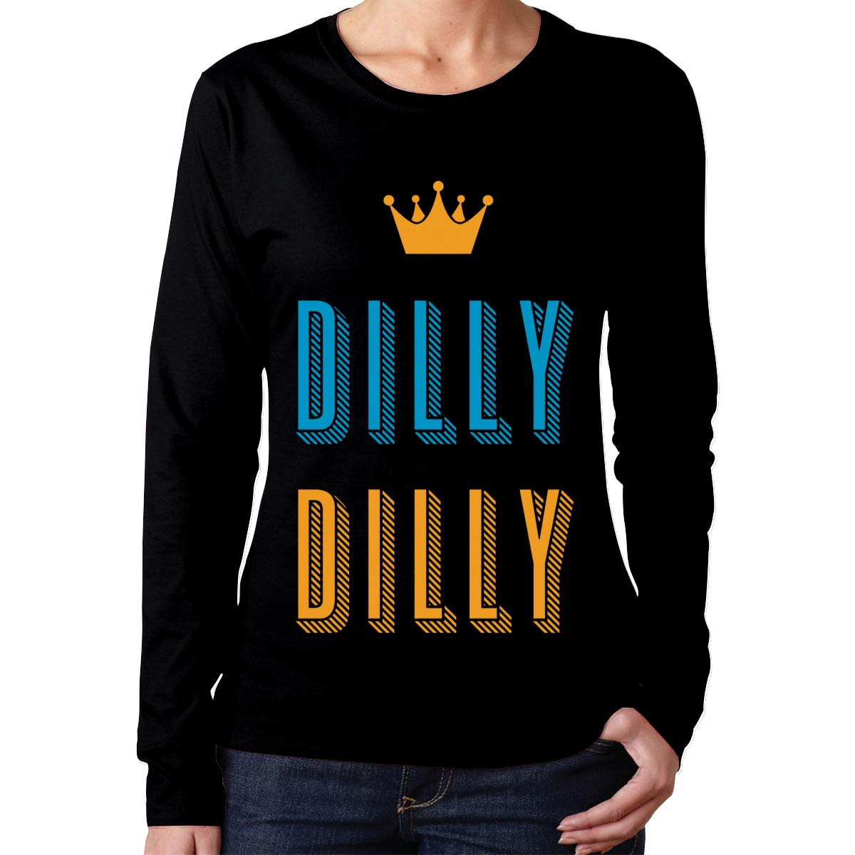 Xzhkrgjfwgd Womens Dilly Dilly Long-Sleeved T-Shirt
