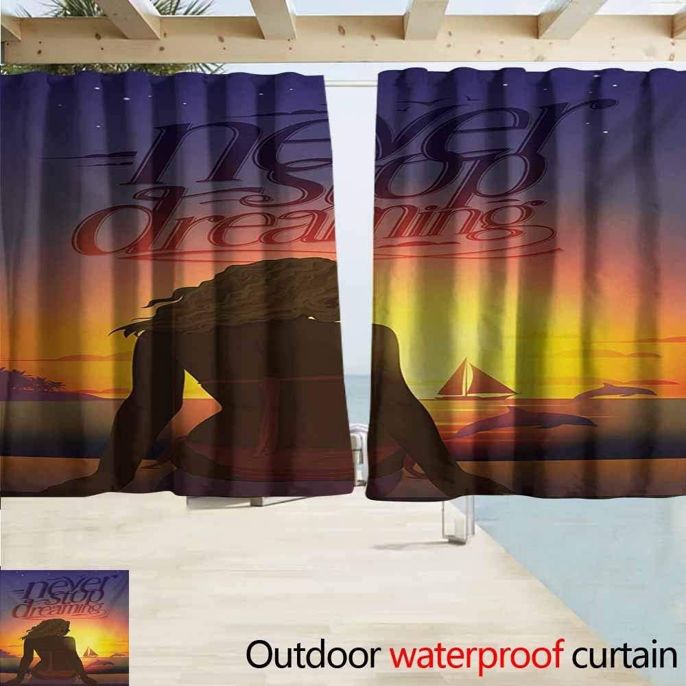 Panel de cortina con ojales para exteriores, nunca dejes de soñar ...