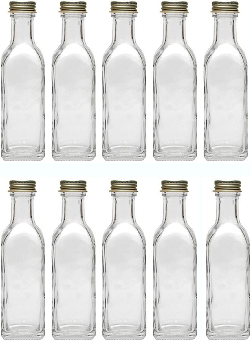 aceto bottiglie d acqua bottiglia in vetro Tappo a Vite Argento succo Bottiglia di liquore bottiglie di bottiglie di liquore da riempire 24/bottiglie di vetro vuote maraska 100/ML incl