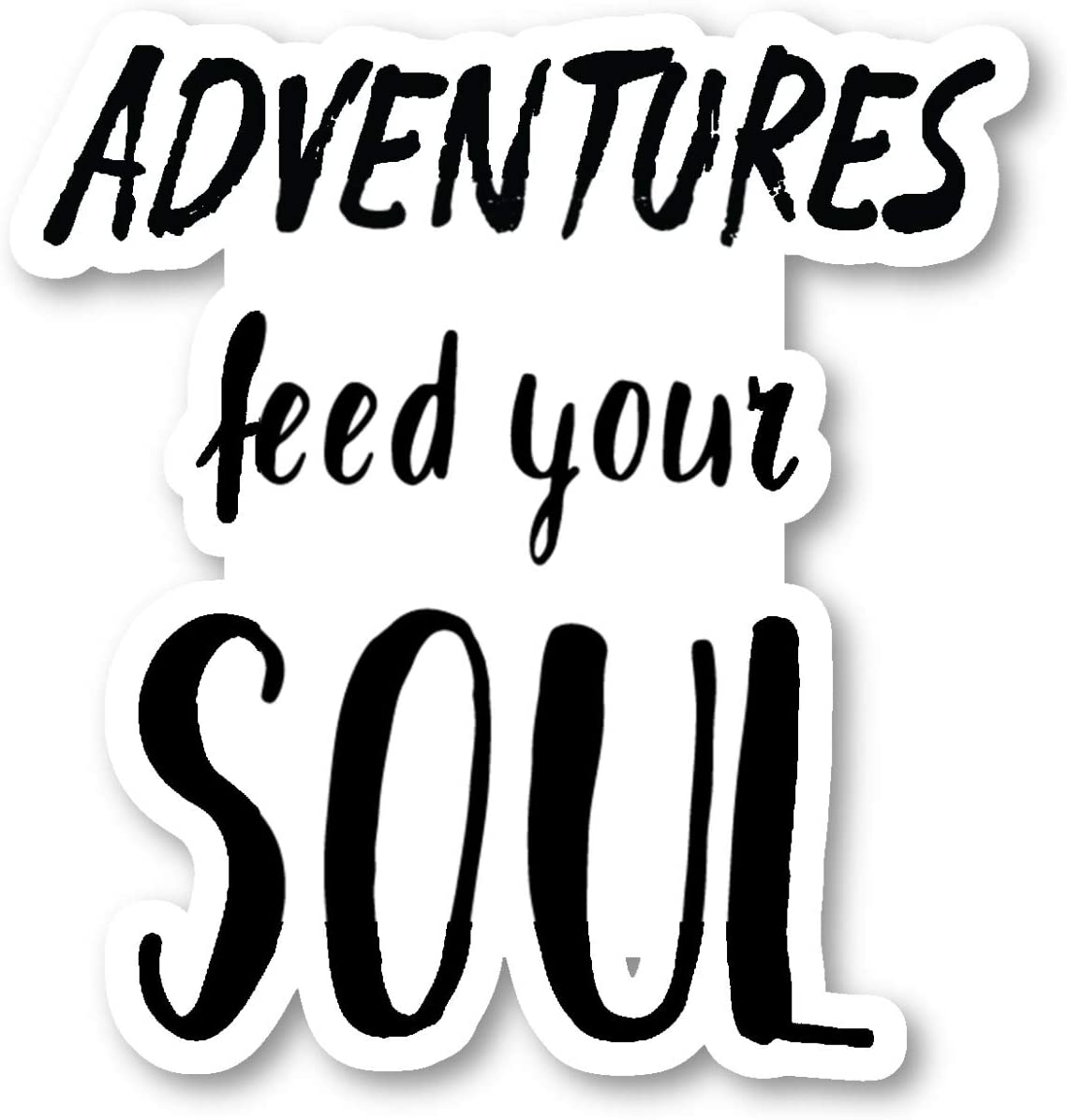Adventure Feed Your Soul Sticker Travel Wanderlust Stickers - Laptop Stickers - 2.5 Inches Vinyl Decal - Laptop, Phone, Tablet Vinyl Decal Sticker S214675