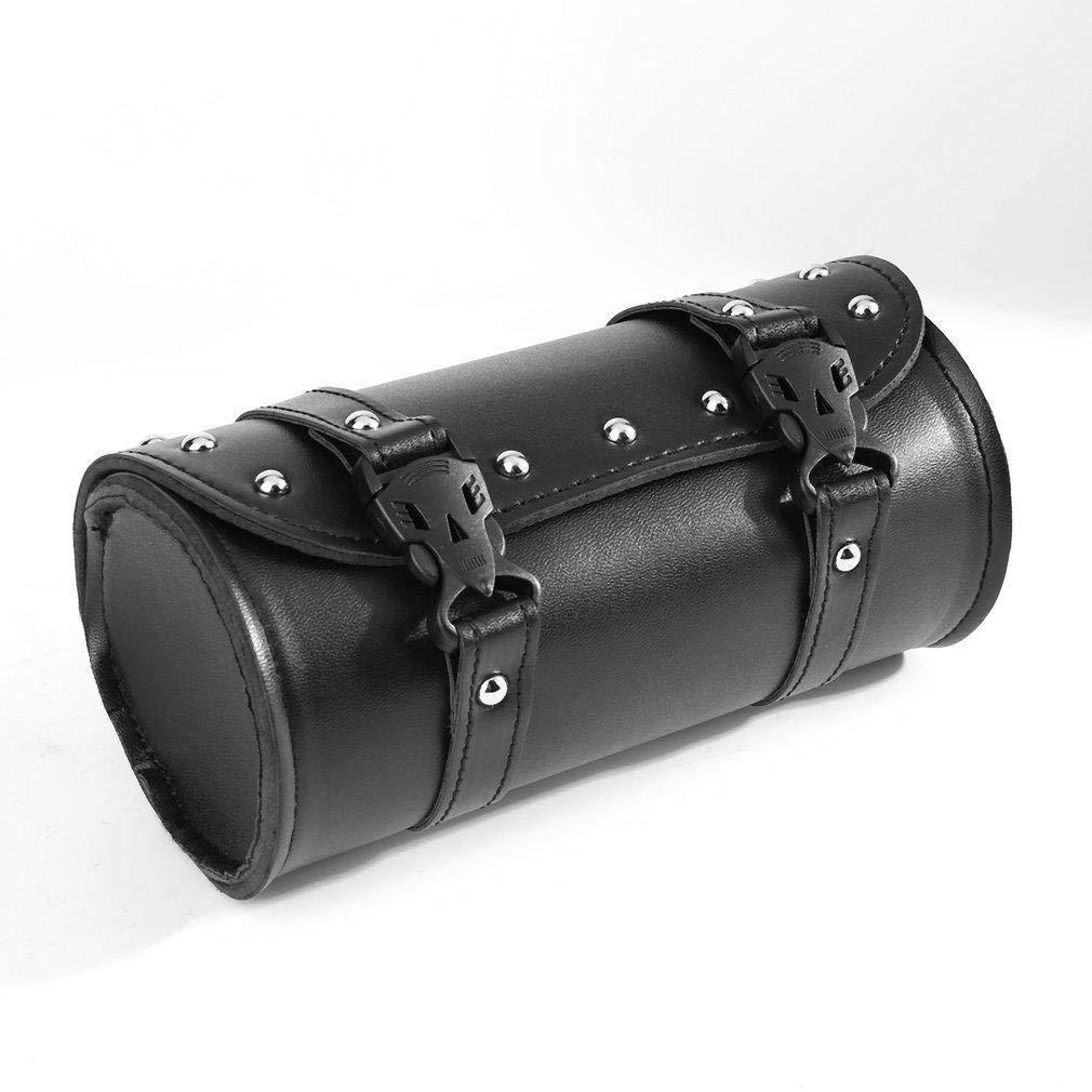 Sthtserj Motorcycle PU Leather Saddlebag Roll bag Storage Tool Pouch Harley Davidson DD Barrel Storage