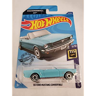Hot Wheels 2020 HW Screen Time James Bond Thunderball 007 '65 Ford Mustang Convertible 59/250, Light Blue: Toys & Games