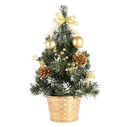 pausseo desktop artificial tabletop mini christmas tree decorations festival miniature tree home decor welcome claus xmas - Mini Christmas Tree Decorations