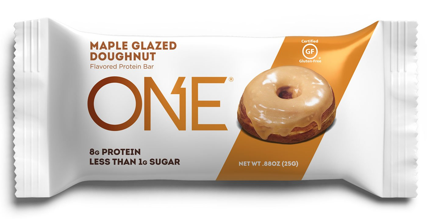 ONE Protein Bars MINI, Maple Glazed Doughnut, Gluten Free Protein Bars with 8g Protein and less than 1g Sugar, Guilt-Free Snacking for High Protein Diets, .88 oz (30 Pack) by ONE