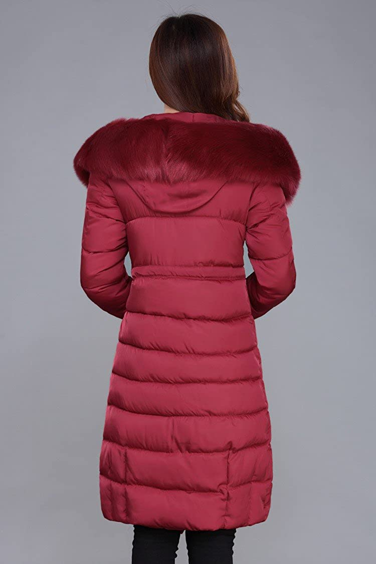 3cee5a779 ACE SHOCK Winter Coat Women Plus Size, Faux Fur Hood Cotton Padded Parka Knee  Length Long Jacket Thicken 4 Colors S-1X at Amazon Women's Coats Shop