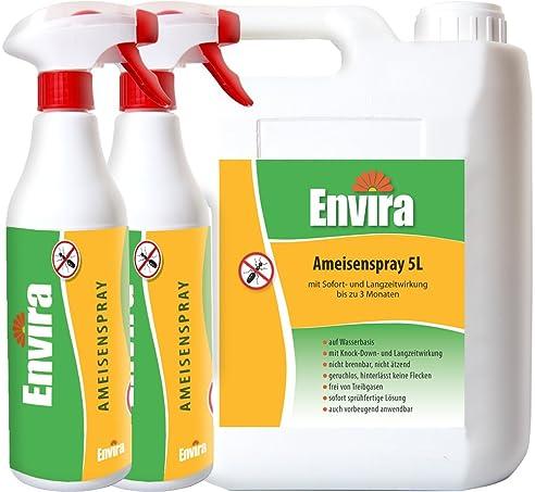 ENVIRA wirksames Spray gegen Ameisen 5Ltr+2x500ml: Amazon.de: Garten