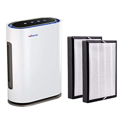 webetop air purifier with 3-in-1 true hepa filters real time air ...