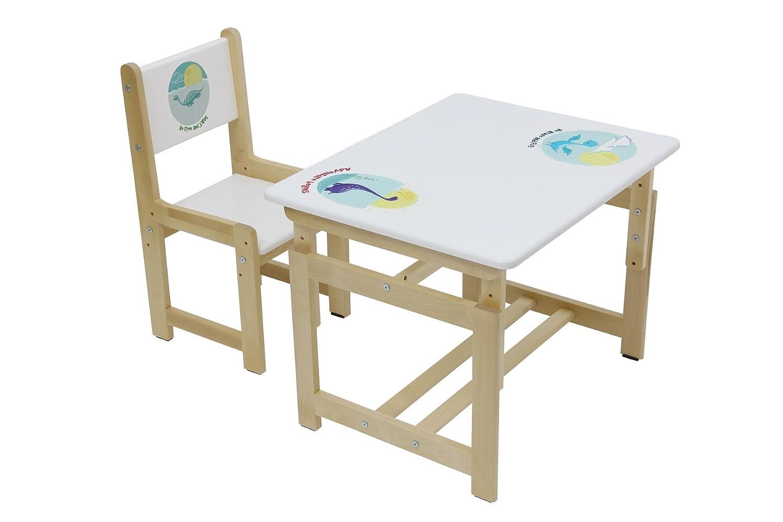 Set Tavolo e sedia per bambini, Polini Kids Eco 400 SM Modello in legno Polini-Kids