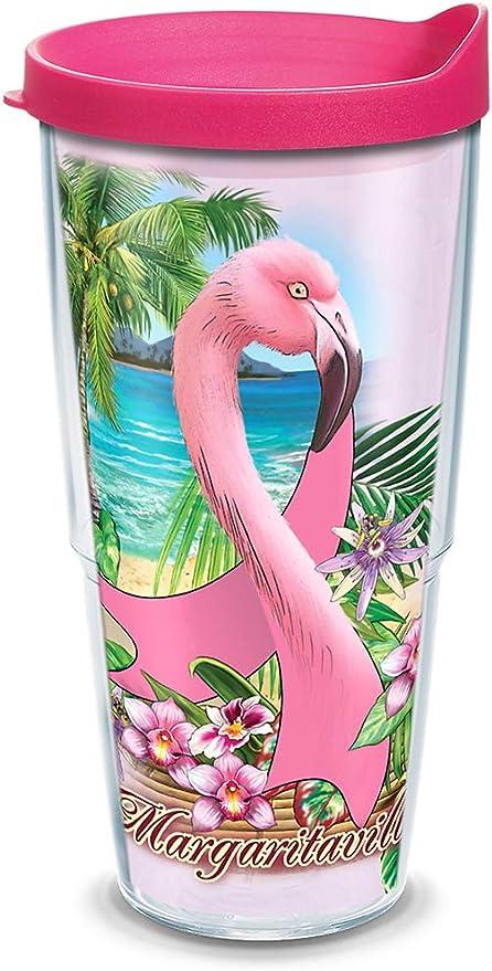 Flamingo Fun Tumbler With Lid 24 oz Tumbler Pink Tervis 24 oz