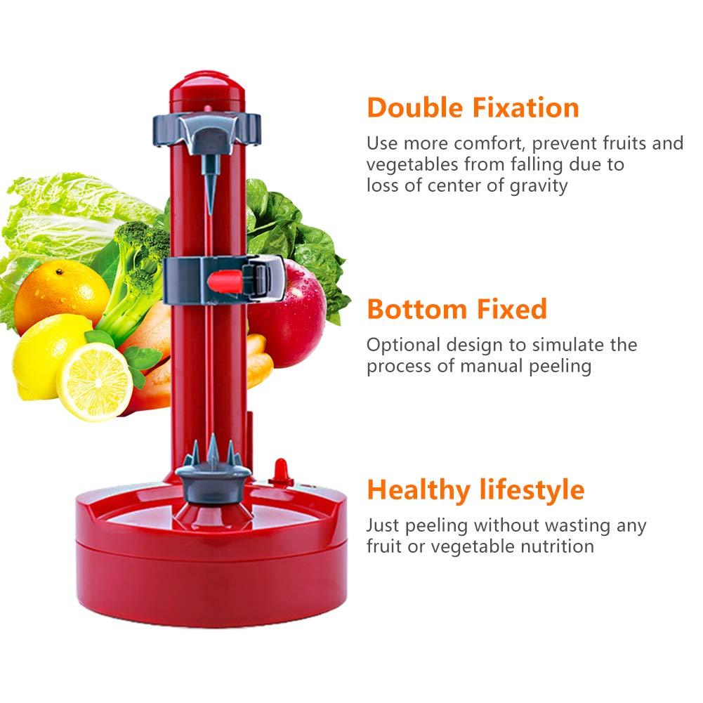 Multifunctional Automatic Stainless Steel Electric Rotating Express Fruits /& Vegetables Peeler,Kitchen Peeling Tool Black Electric Fruit Peeler