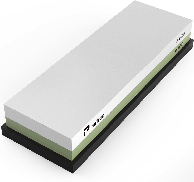 Schleifstein Dopple Seiten 1000//4000 Körnung mit Schleifstein-Stand Rutschfest