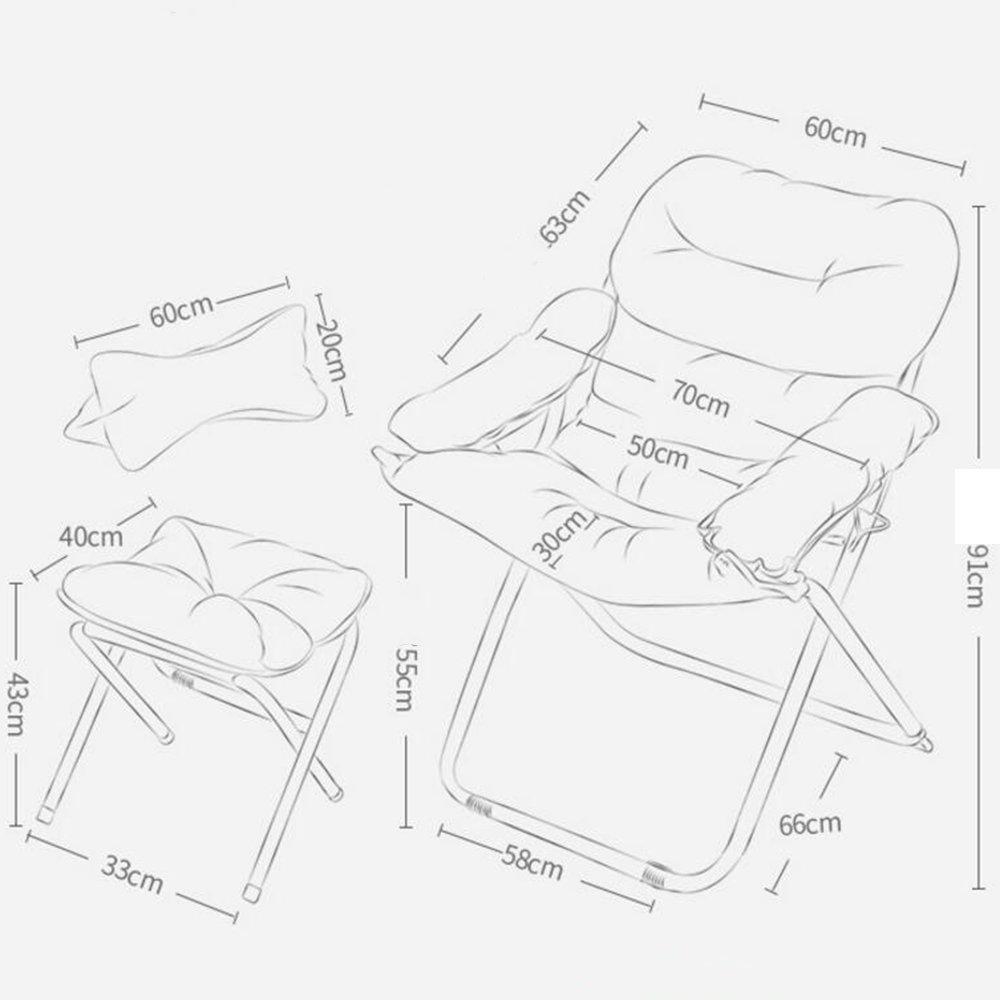 Xxhdyr Kreative Faule Couch Stuhl Lassig Falten Schlafsaal Computer
