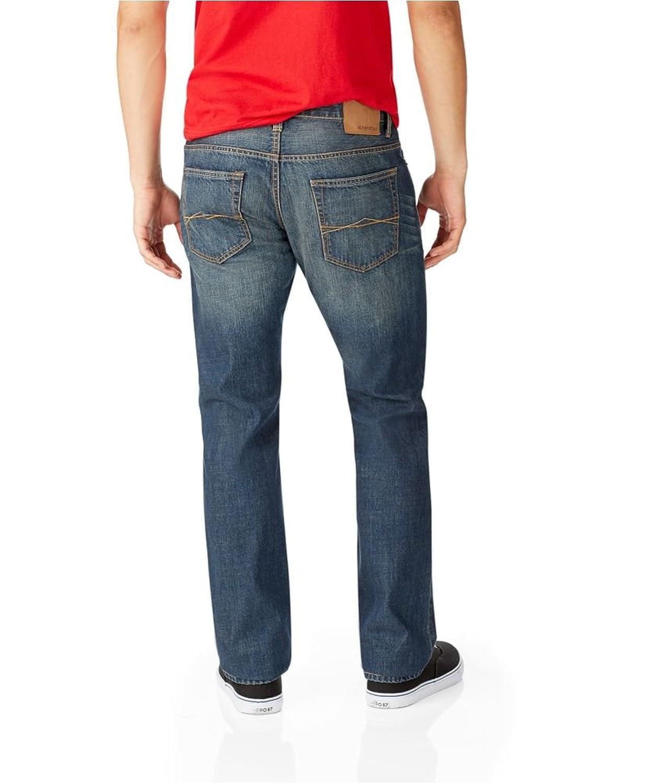Aeropostale Mens Bowery Straight Slim Fit Jeans