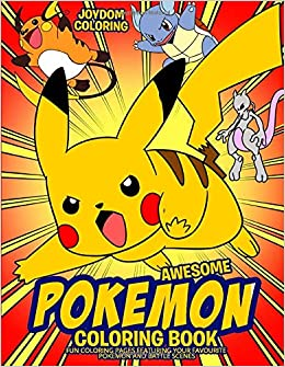 Awesome Pokemon Coloring Book Fun Coloring Pages Featuring