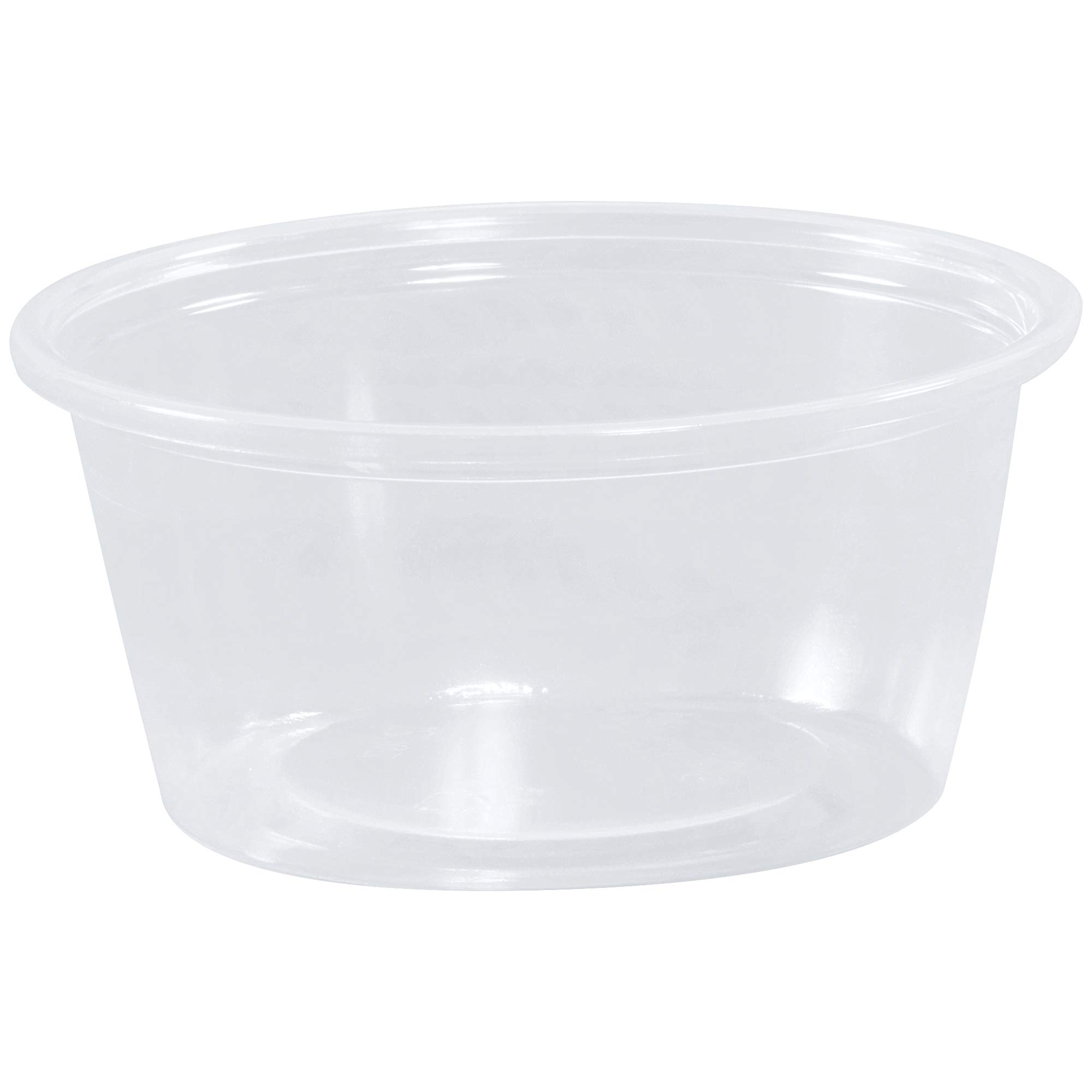 Plastic Portion Cups, 2 oz, Clear, 2500/Case