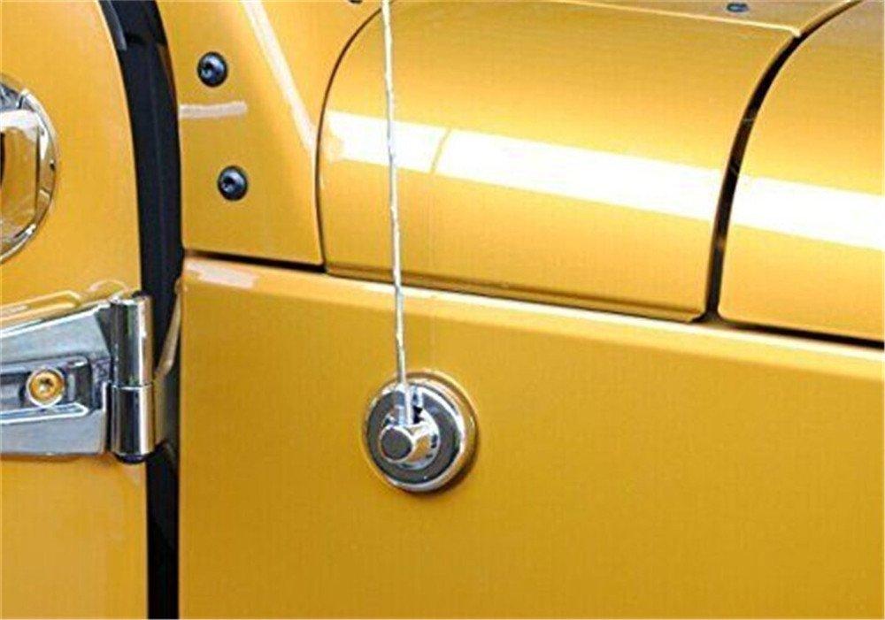 AVOMAR Radio Antenna Decoration Antenna Base Cover Trim for 2007-2017 Jeep Wrangler JK Silver