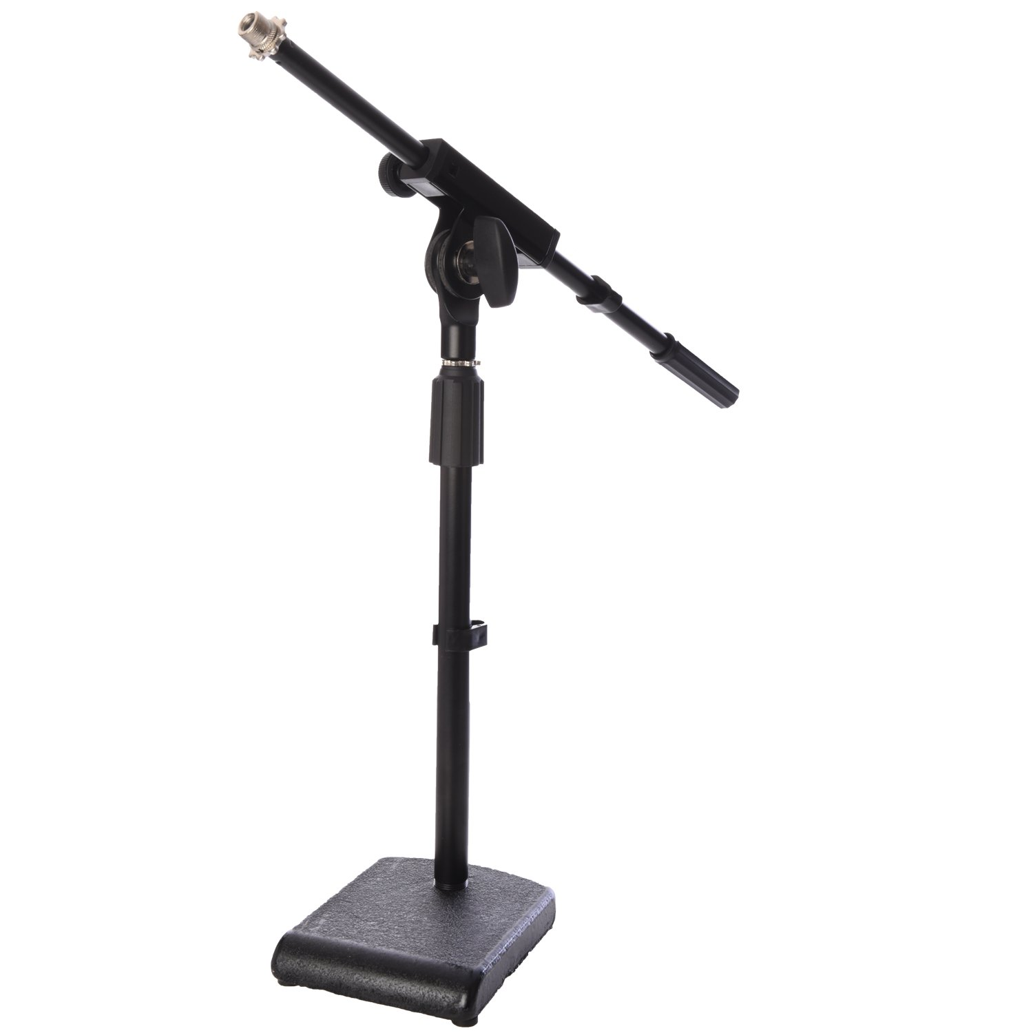 LyxPro KDS-1 Kick Drum Mic Stand, Low Profile Height adjustable Microphone Boom Stand, 3/8 and 5/8 threaded mounts for for Kick drums, Guitar Amps, and Desktop