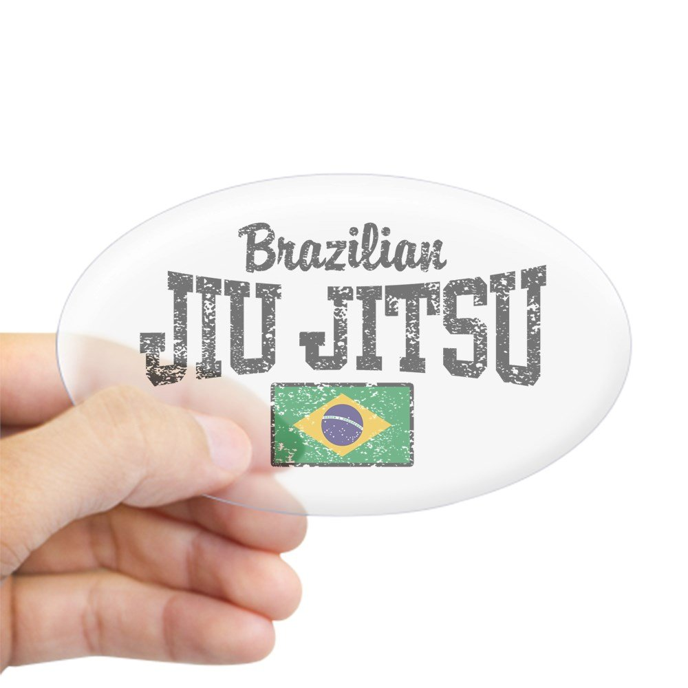 Amazon com cafepress brazilian jiu jitsu oval bumper sticker euro oval car decal home kitchen