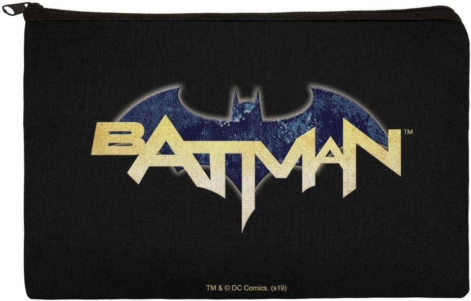 Estuche organizador de lápices con logo de Batman y cremallera: Amazon.es: Oficina y papelería