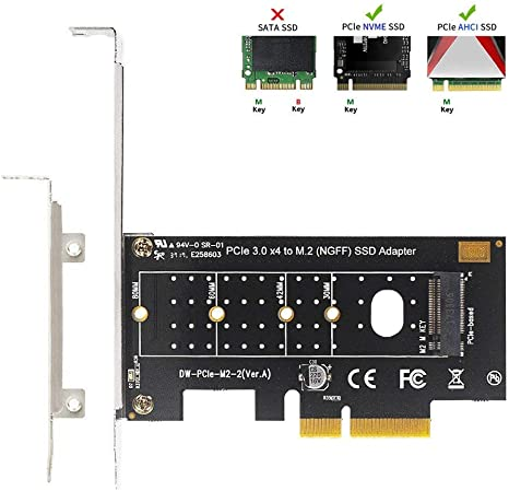 QNINE NVME Adaptador PCIe, M.2 Discos Duros NVME a PCI Express 3.0 ...