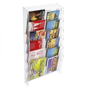 Présentoir mural porte cartes (postales) avec 12 poches: Amazon.fr ...