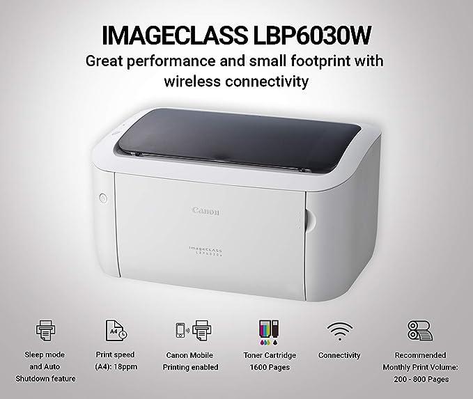 Canon imageCLASS LBP6030W Single-Function Wireless Laser Monochrome Printer  (Black)