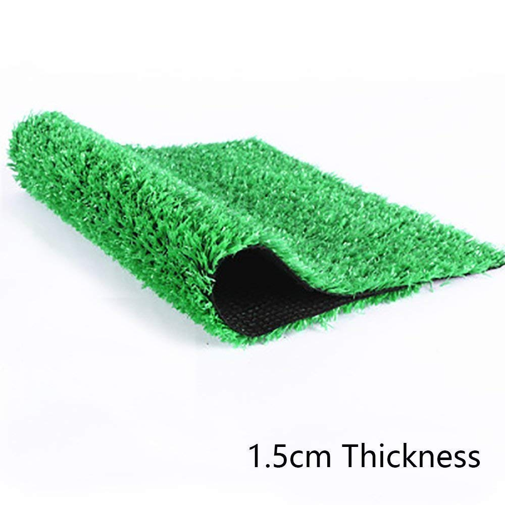 Blade Height 0.59 Ecover Artificial Grass Outdoor Rug Jade Green 60x40 Faux Fake Grass Decor Mat Rug Carpet Turf Neat Edge for Home Pet Lawn and Landscape Outdoor or Indoor